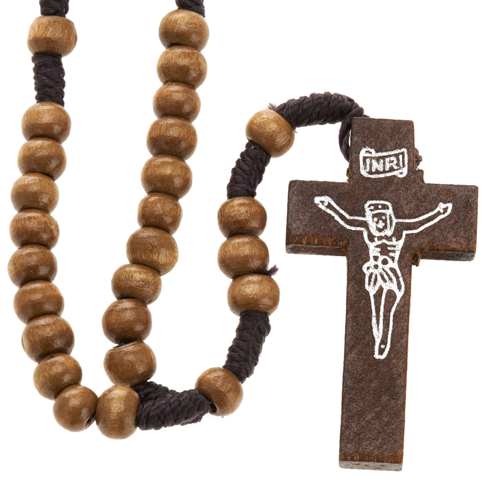 Small rosary in naturaly wood 5mm 4