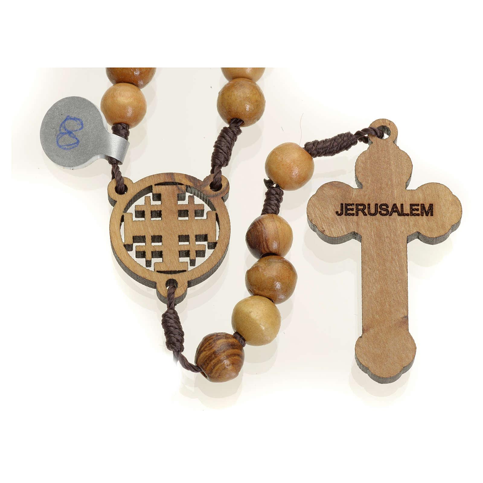 Rosario olivo Terrasanta croce e crociera Jerusalem 4
