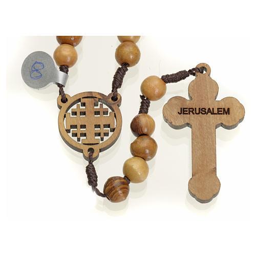 Rosario olivo Terrasanta croce e crociera Jerusalem 2