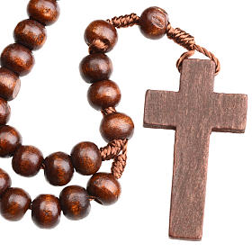 Rosary beads in dark wood, 8mm with clasp s3