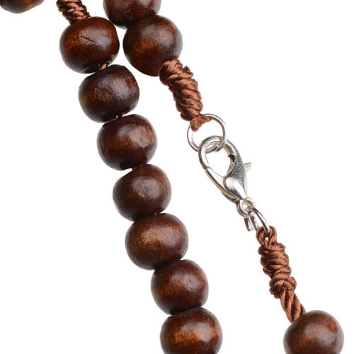 Rosary beads in dark wood, 8mm with clasp 2