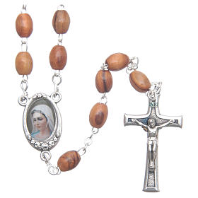 Rosary beads in Holy Land olive wood, Land of Israel s1