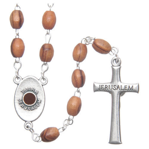 Rosary beads in Holy Land olive wood, Land of Israel 2