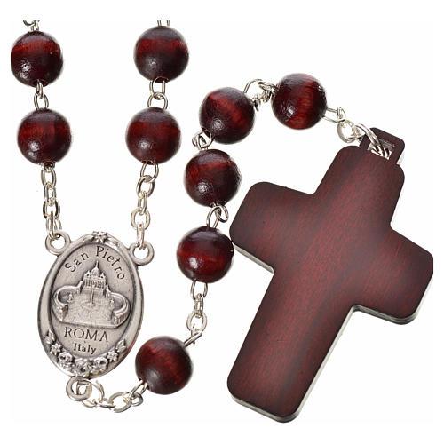 Rosenkranz Papst Franziskus aus Holz 2