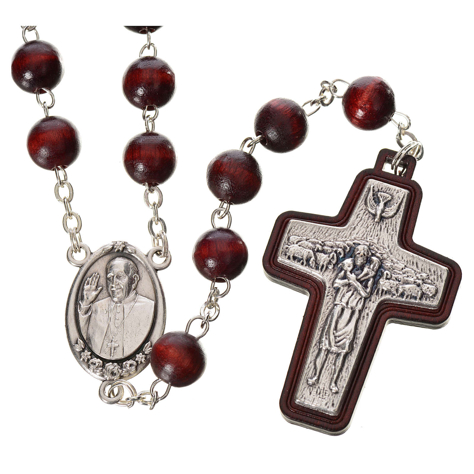 Rosary beads in wood, Pope Francis 4