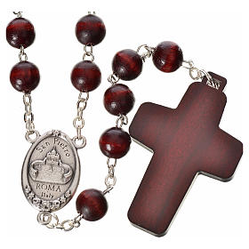 Rosary beads in wood, Pope Francis s2