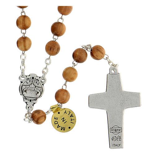 Rosenkranz aus Olivenholz Papst Franziskus