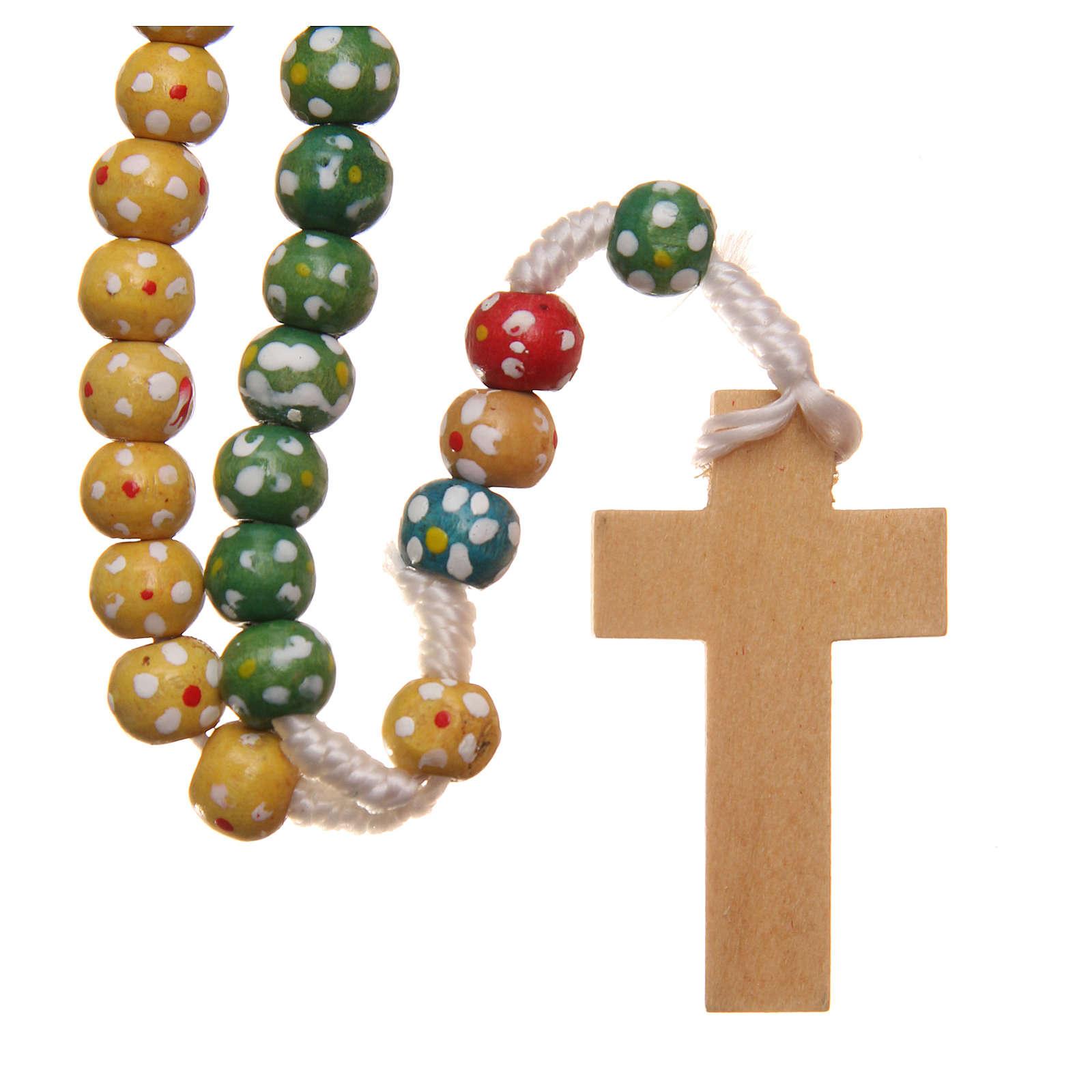 Rosario legno missionario fiorellini 4