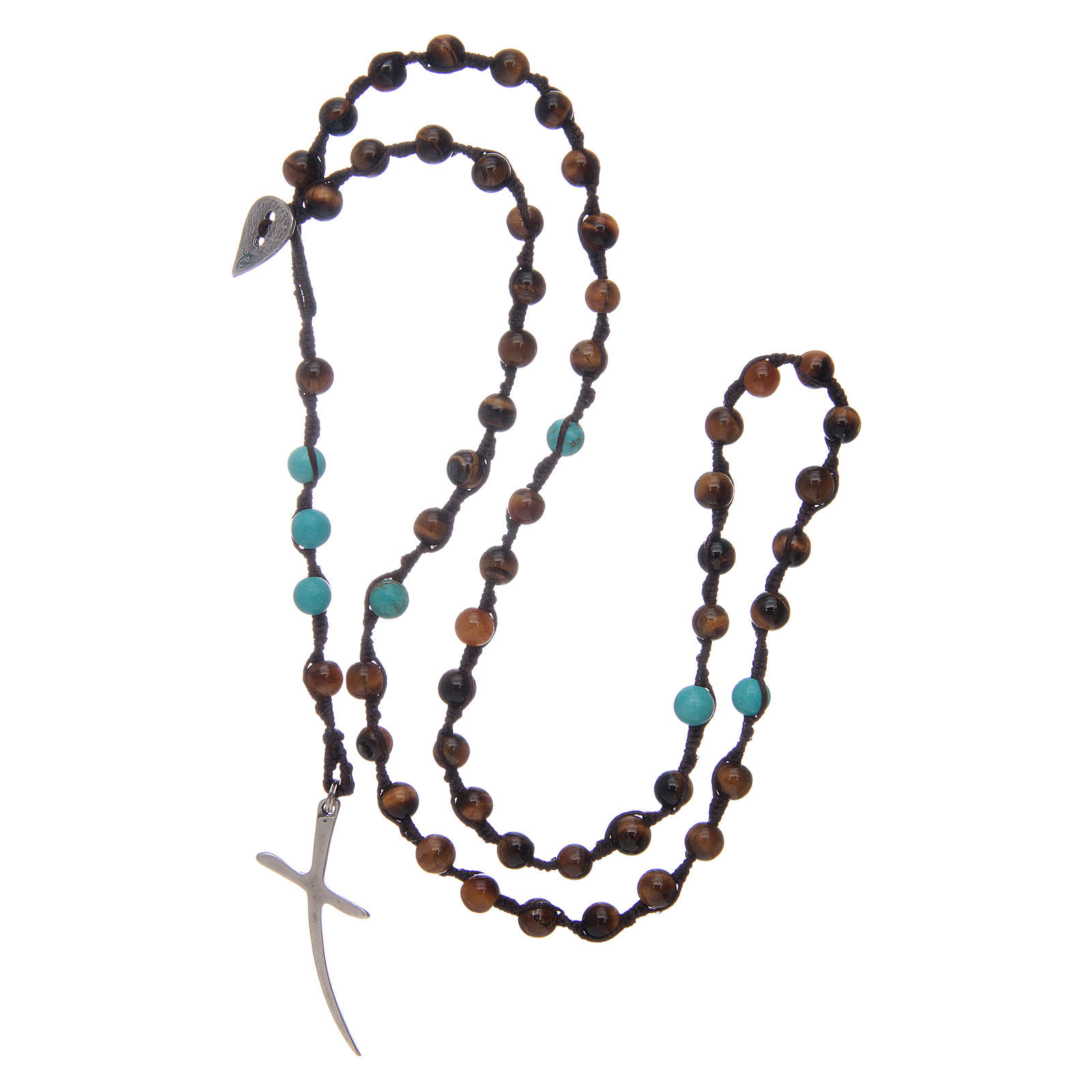 Rosary beads with tiger's eye grains 4