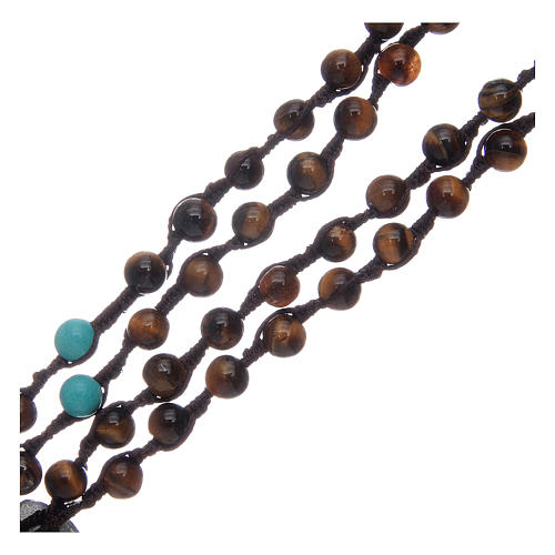 Rosary beads with tiger's eye grains 3