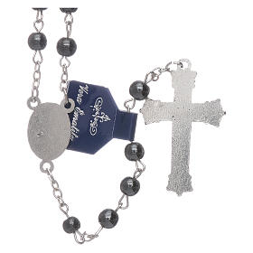 Our Lady of Fatima rosary hematite 6mm beads s2