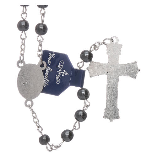 Our Lady of Fatima rosary hematite 6mm beads 2