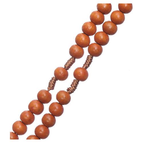 Rosenkranz mit 8 mm Holzperlen auf Seidenkordel 3