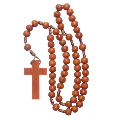 Rosary in wood grains diameter 8 mm silk setting 4