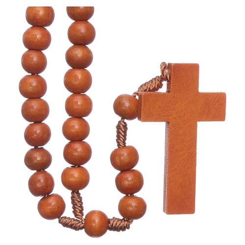 Rosary in wood grains diameter 8 mm silk setting 1