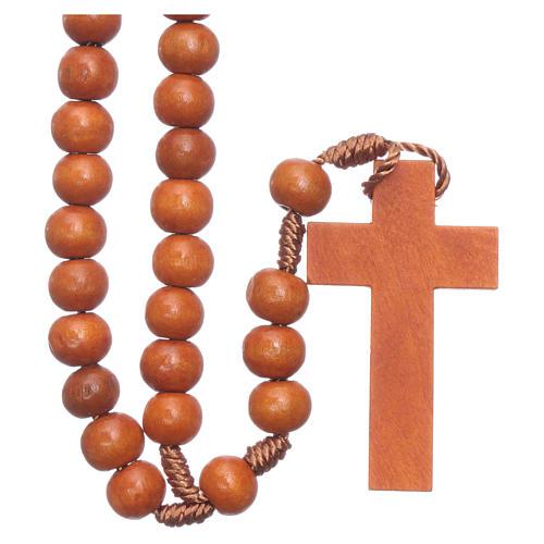 Rosary in wood grains diameter 8 mm silk setting 2