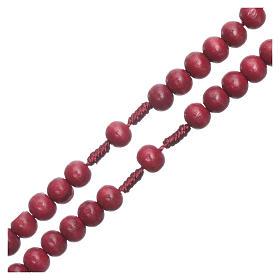 Rosenkranz mit 8 mm Holzperlen auf Seidenkordel s3