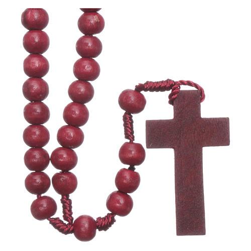 Rosenkranz mit 8 mm Holzperlen auf Seidenkordel 2