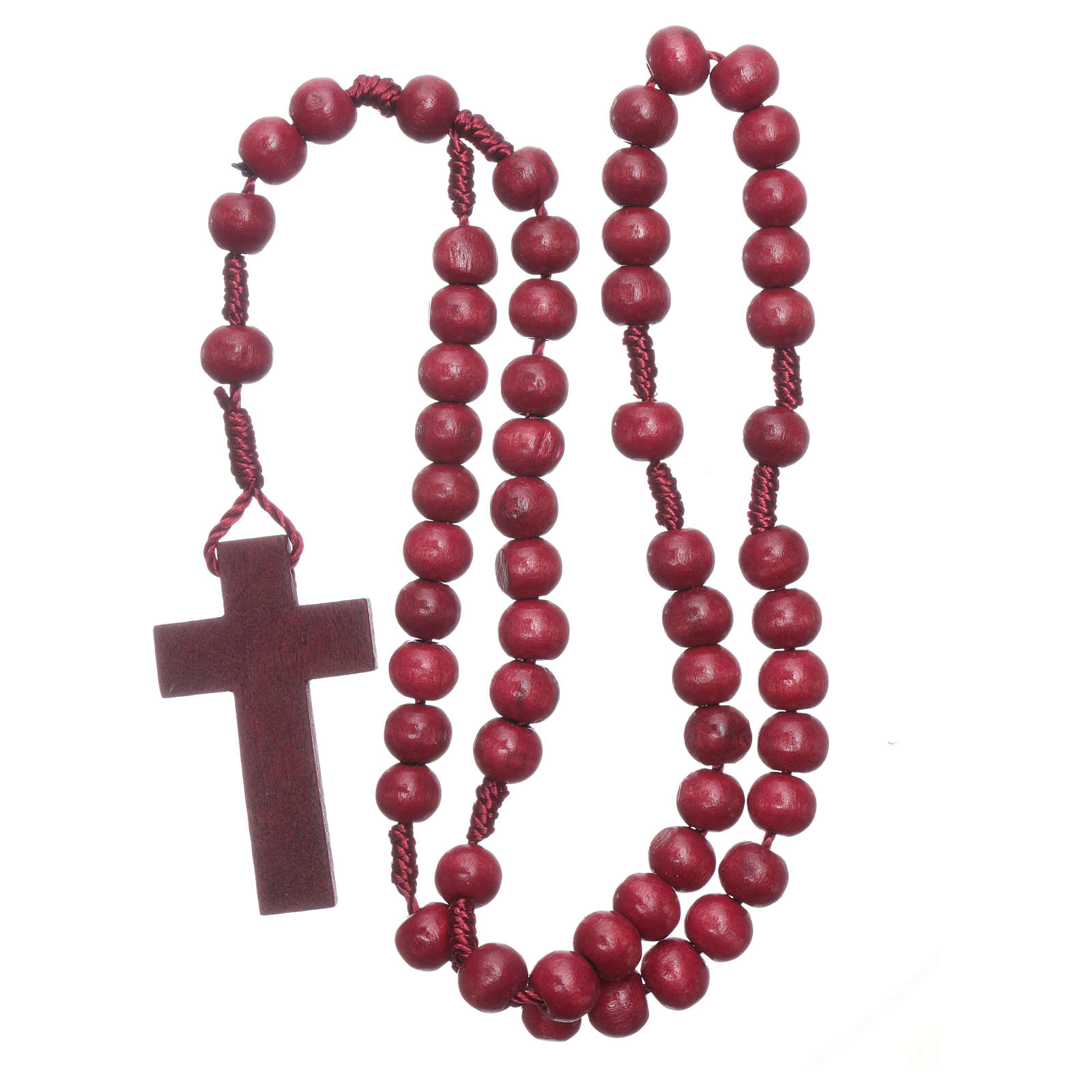 Rosary in wood round 8 mm silk setting 4