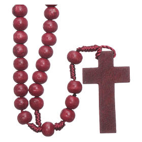 Rosary in wood round 8 mm silk setting s2