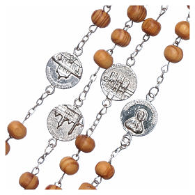 Rosary with medals in olive wood 8 mm s4