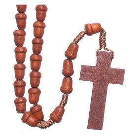 Rosary in wood with akron shaped grains s2