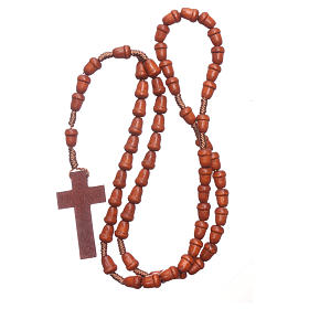 Rosary in wood with akron shaped grains s4