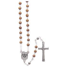 Cofre flor de olivo con rosario de madera 5 mm s4