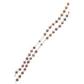 Cofanetto a fiore in olivo con rosario in legno 5 mm s5