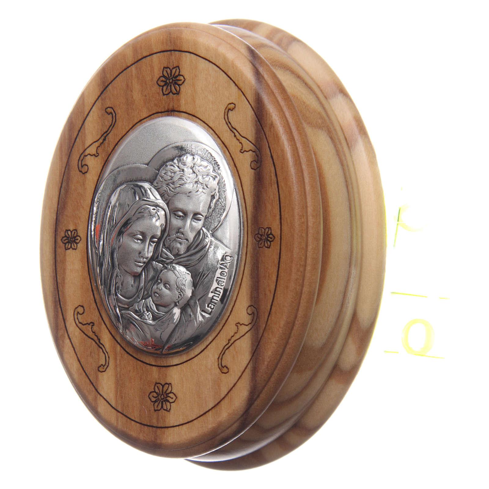 Coffret ovale en olivier avec chapelet en bois 5 mm 4