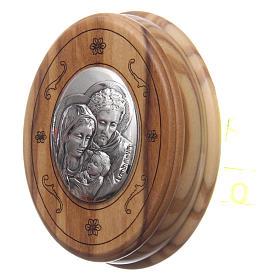 Caixinha oval oliveira com terço em madeira 5 mm s2