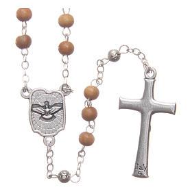 Scatola a cuore in olivo con rosario in legno 5 mm s4