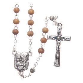 Cofre cuadrado de olivo con rosario de madera 5 mm s3