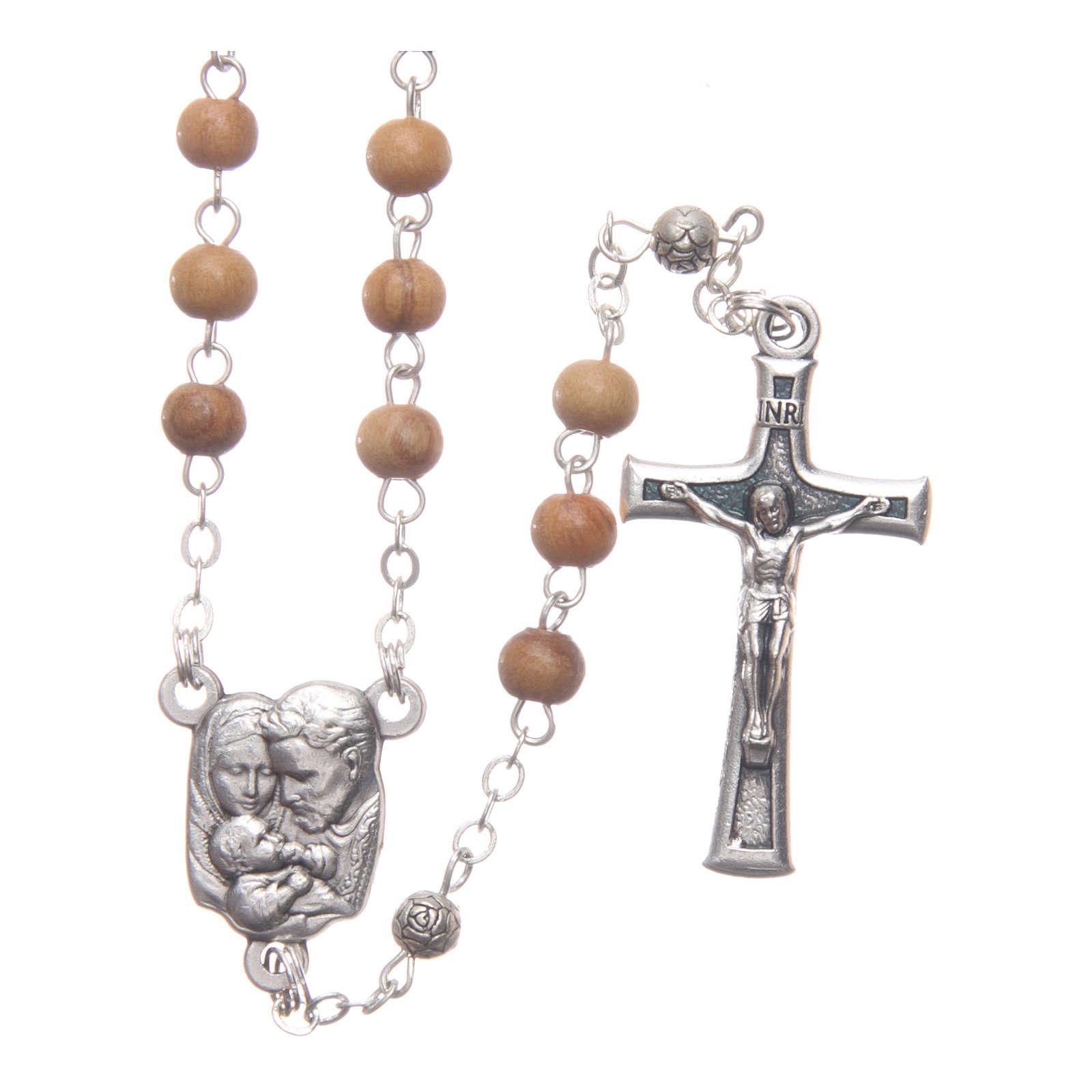 Cofanetto quadrato in olivo con rosario in legno 5 mm 4