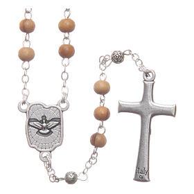Cofanetto quadrato in olivo con rosario in legno 5 mm s4