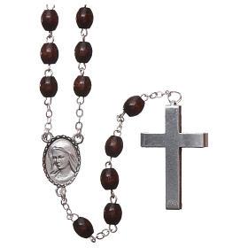 Rosario legno Madonna di Lourdes 4 mm palissandro s2