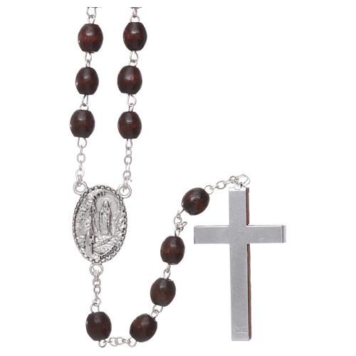 Rosenkranz Palisanderholz Perlen 4mm Gottesmutter von Lourdes