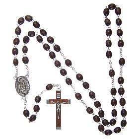 Rosario legno Madonna di Lourdes 5 mm palissandro s4