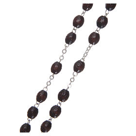 Our Lady of Lourdes wooden rosary 5 mm beads, dark brown s3