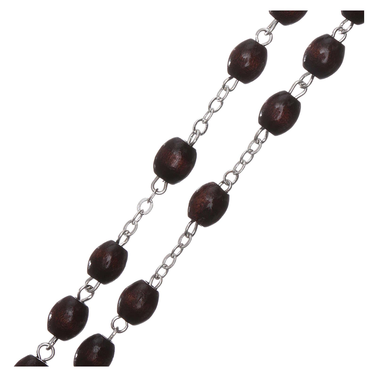 Fatima rosary in wood 4mm 4