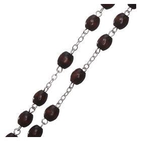 Fatima rosary in wood 4mm s3