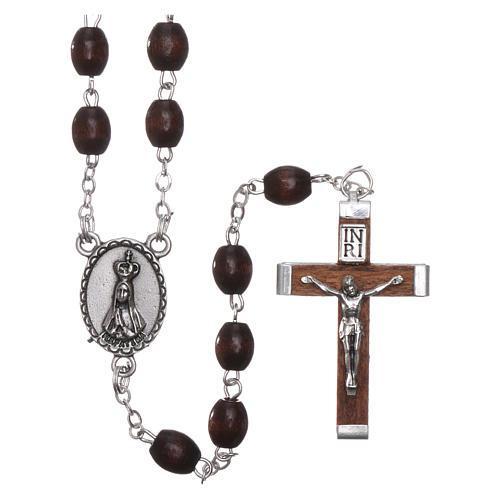 Fatima rosary in wood 4mm 1