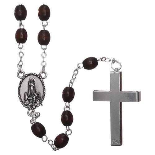 Fatima rosary in wood 4mm 2
