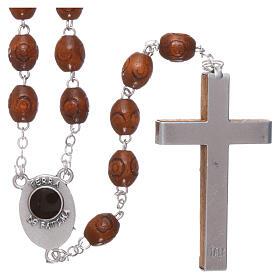 Wood rosary Fatima soil dirt natural wood beads 6 mm s2