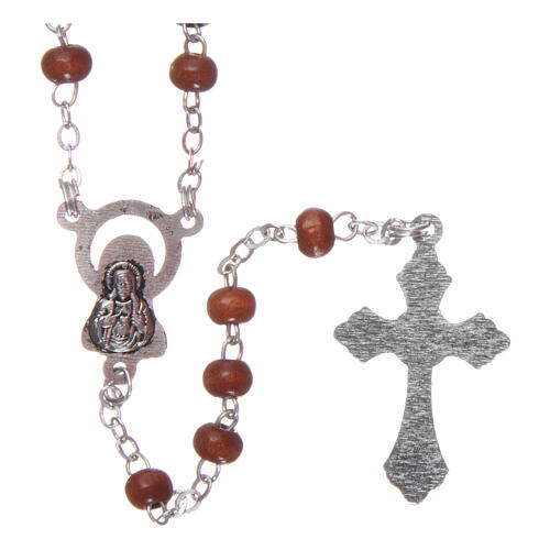 Wood rosary natural wood beads 2 mm 2