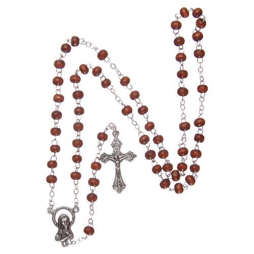 Wood rosary natural wood beads 2 mm 4