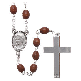 Rosary natural wood beads 4 mm s2