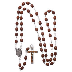 Rosary natural wood beads 4 mm s4