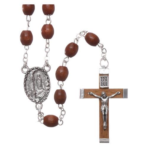 Rosary natural wood beads 4 mm 1