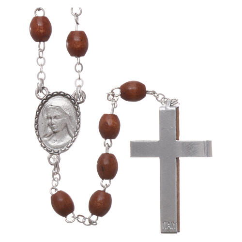 Rosary natural wood beads 4 mm 2